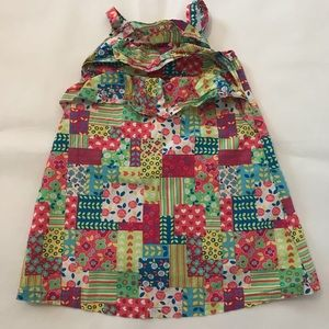 Hanna Andersson Patchwork multi color sundress 4T